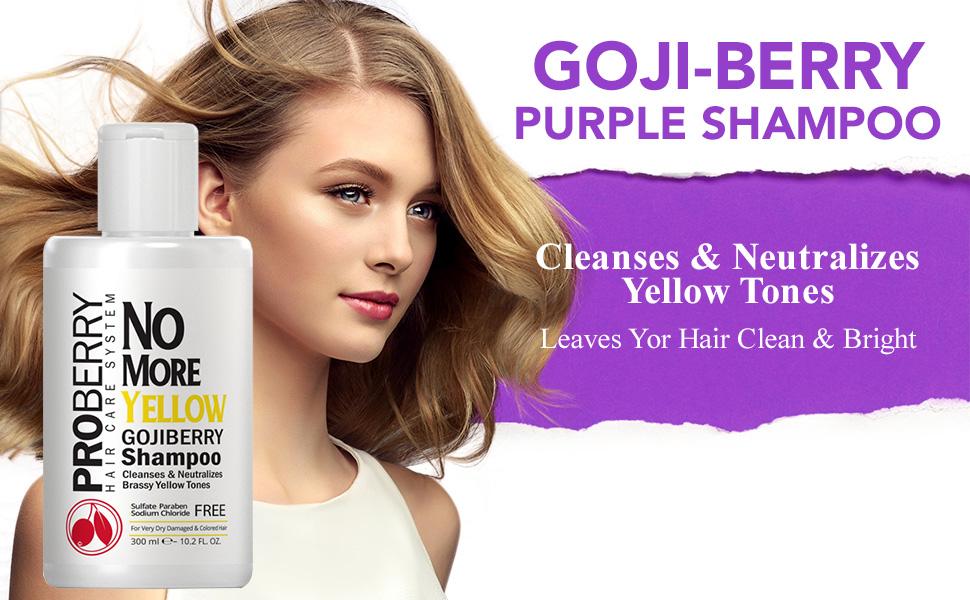 Amazon Com Goji Berry No Yellow Purple Toning Shampoo Brighten
