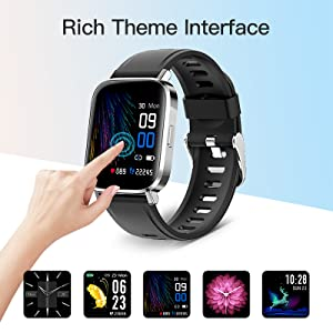 smartwatch  RUNDOING Smart Watch for Men Women,1.54″ Fitness Tracker iP68 Waterproof Watch with Heart Rate Monitor, Calorie Counter,Pedometer Smartwatch Compatible for Android Phones iPhone 2ee54807 1124 4da5 b32f ea369d3b7d44