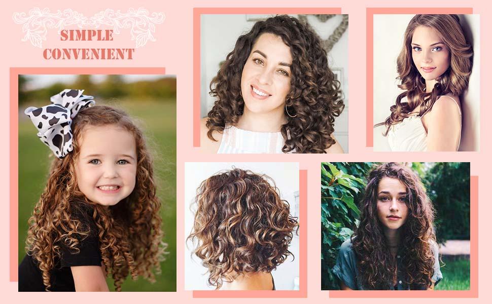 Amazon Com 32pcs Hair Curlers Hair Rollers Spiral Curls No Heat Hair Wavers Styling Kit Wave Magic Rollers For Short Hair Long Hair Medium Hair Beauty