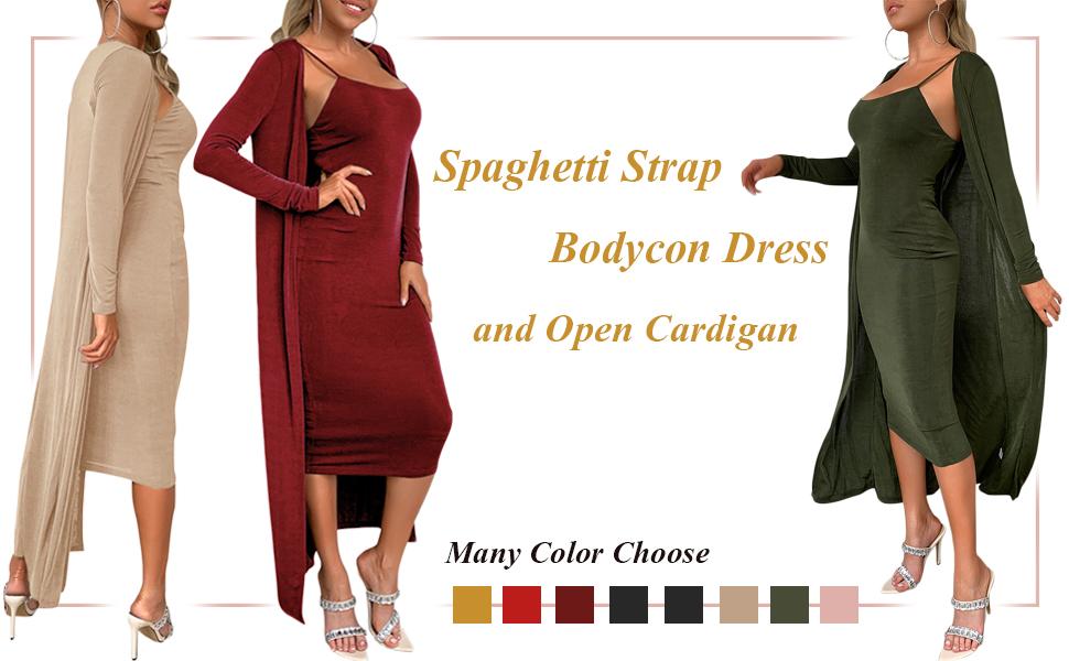 Solid, Spaghetti Strap, Sleeveless, Backless, High Waist, Bodycon, Slim, Midi Dress