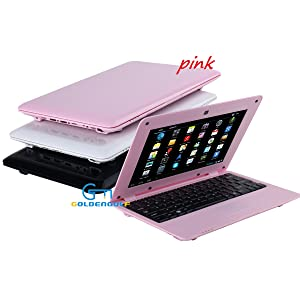 01  Goldengulf 2020 Latest 10 Inch Computer Laptop PC Android 6.0 Quad Core Mini Notebook Netbook 8GB WiFi Webcam USB Netflix YouTube Google Player Flash (Pink) 2eebc69d efa1 4fb0 bd0c 7bf201ecc818