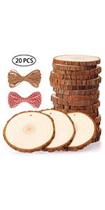 Fuyit 9-10cm 20pcs wood slices