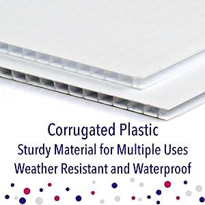 Corrugated Plastic Material