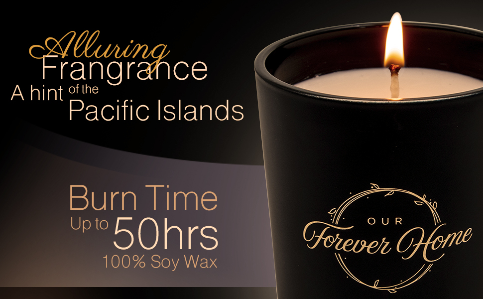 Alluring fragrance candles, burn time 50 hrs, 100% soy wax, 10 ounces, for aromatherapy