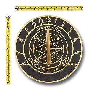 Custom large sundial