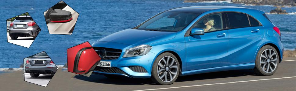 factory muffler mirror cover fender cover trim high kick spoiler for Benz A Class W176 A45 AMG A180