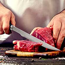 Sharp knife for cutting meats
