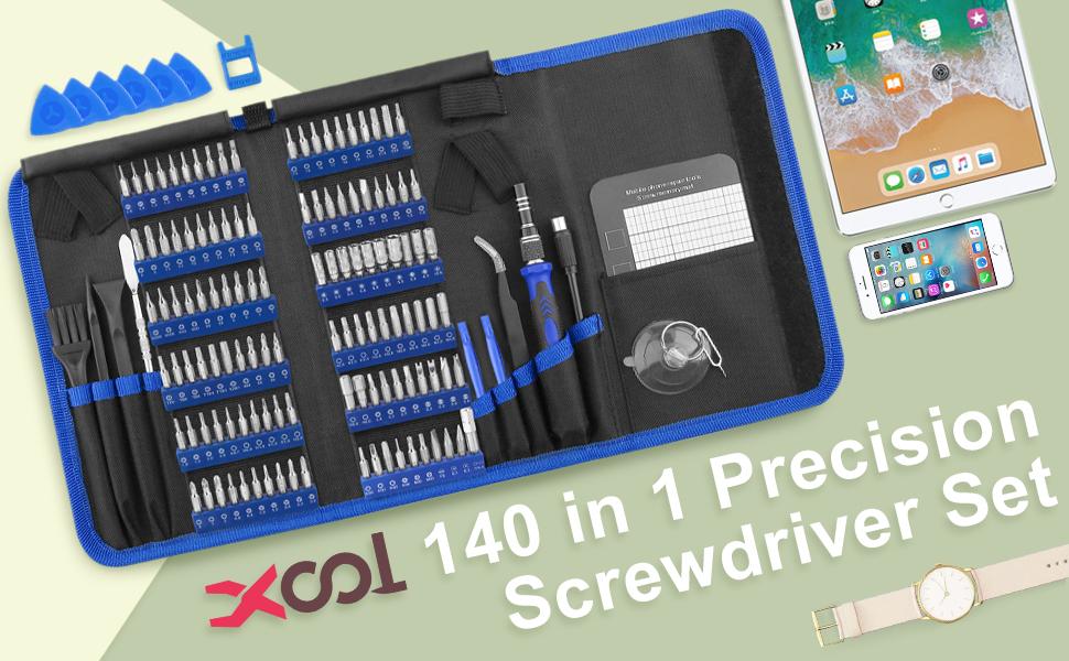 XOOL 140pcs Professional Electronics Repair Tool Kit
