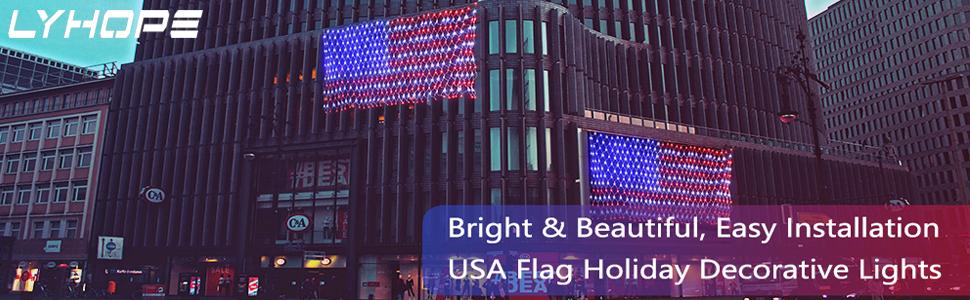 flag net lights
