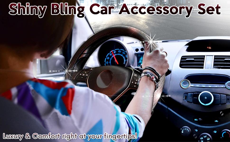 SHINY BLING CAR ACCESSORY