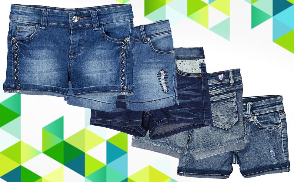 ToBeInStyle Girls Denim Mini Shorts