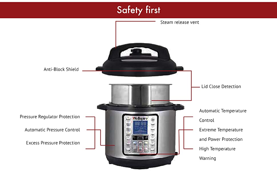 safety first wellspire idea electric pressure cooker safe easy clean use multipot multipurpose