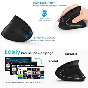 rechargeable wireless ergonomic mouse