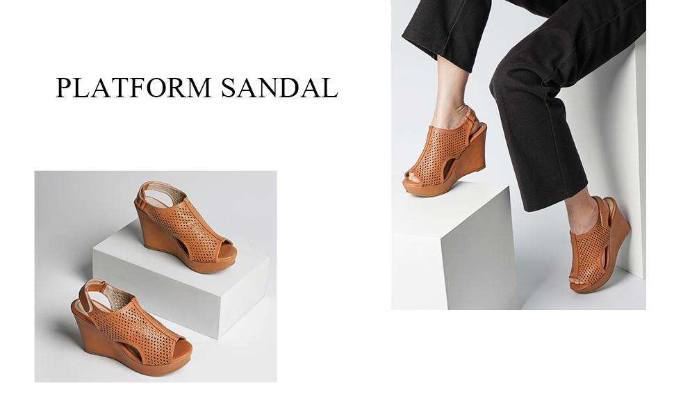 Model wearing shoes display