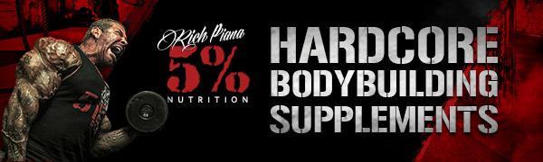 hero, rich piana, logo, hardcore supplements