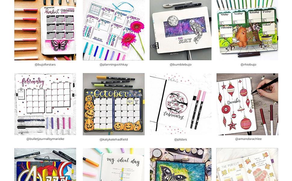 Bullet Journal Notebook Planner Diary A5