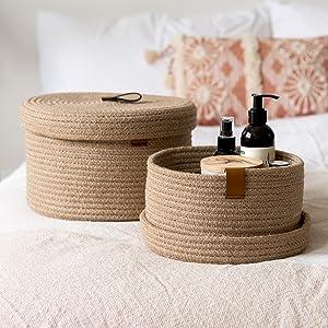 natural jute basketwith lids bathroom towels