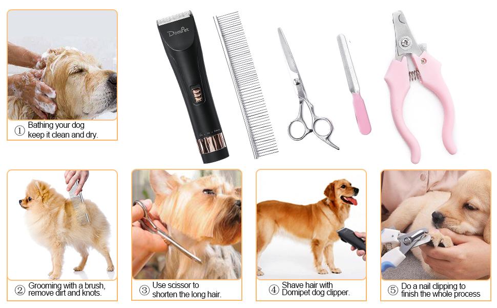 TaoToa Cortador de pelo de mascota nuevo Peine de aseo 2 Maquinilla de afeitar de corte