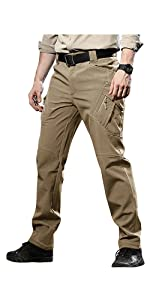 Mens winter fleece snow skiing hiking pants with multi pockets