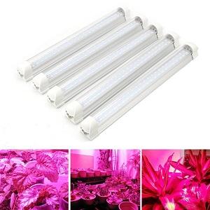 T8 Grow Lights Bar Kit 5Pcs 12.5 Inches Full Spectrum Led Grow Light T8 Tube for Seed Starting//Indoor Plant//Flower//Vegetable,Grow Light Strip for Greenhouse Garden Grow Shelf 5Pcs T8 Grow Lights Bar