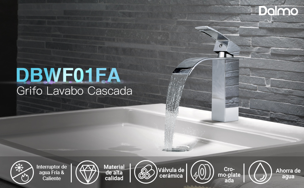 Grifo de Lavabo Cascada, Dalmo Grifo Cascada DBWF01FA Monomando de ...