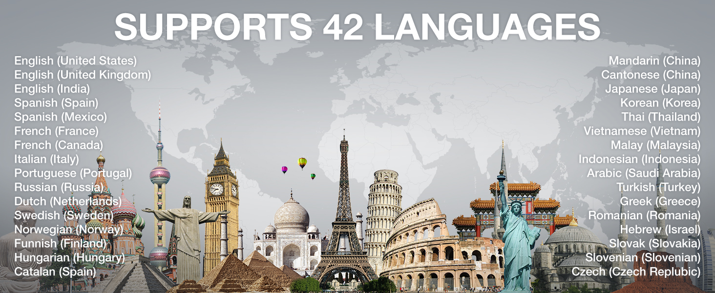 support 42 languages translator