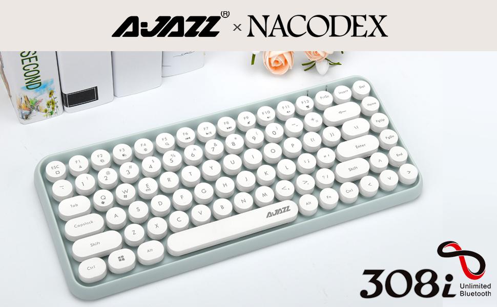 typewriter keyboard green