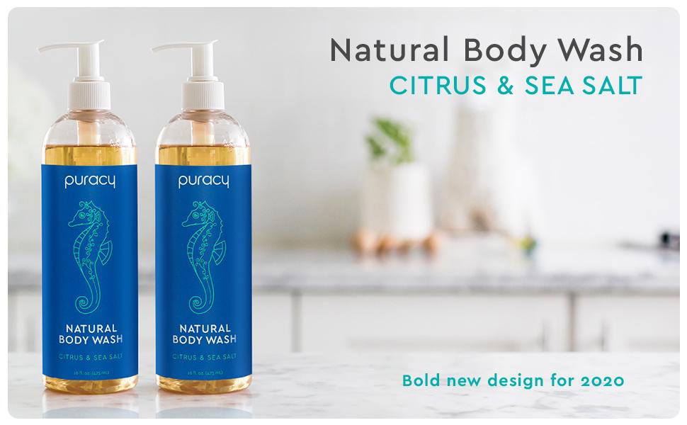 Puracy Natural Body Wash - Citrus & Sea Salt 2-Pack