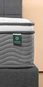 Zinus EPSM-12 iCoil Pocket Spring + Memory Foam Mattress