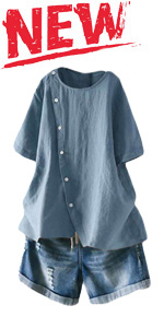 Women's Cotton Linen Tunic Tops