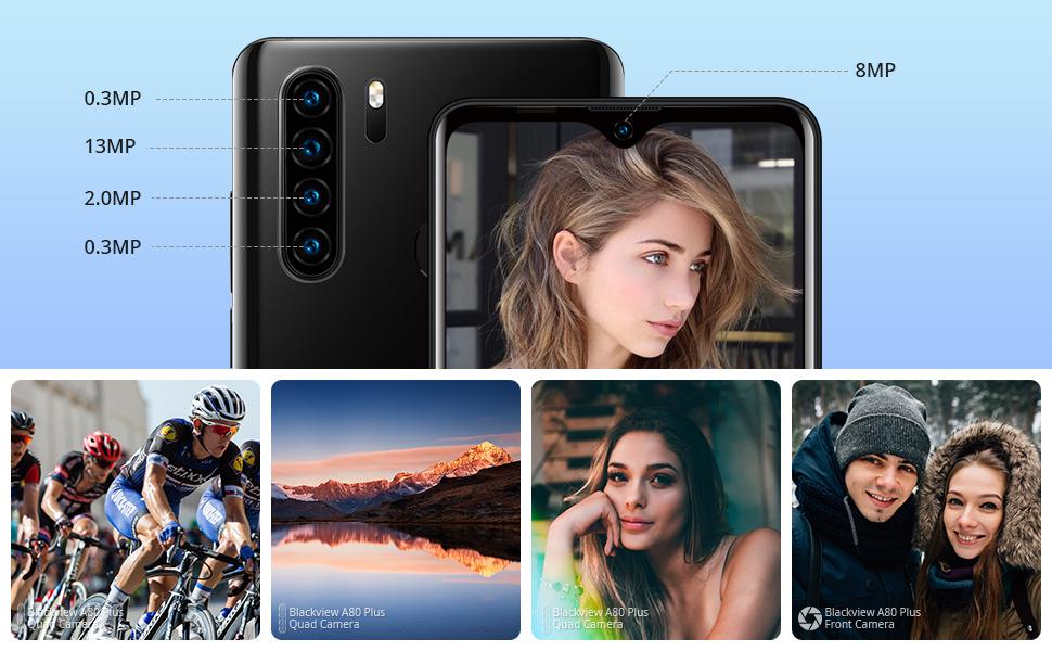 smartphone 13MP +8MP kamera