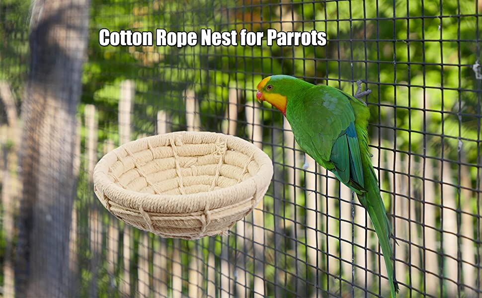 Orgrimmar Handmade Cotton Rope Bird Nest