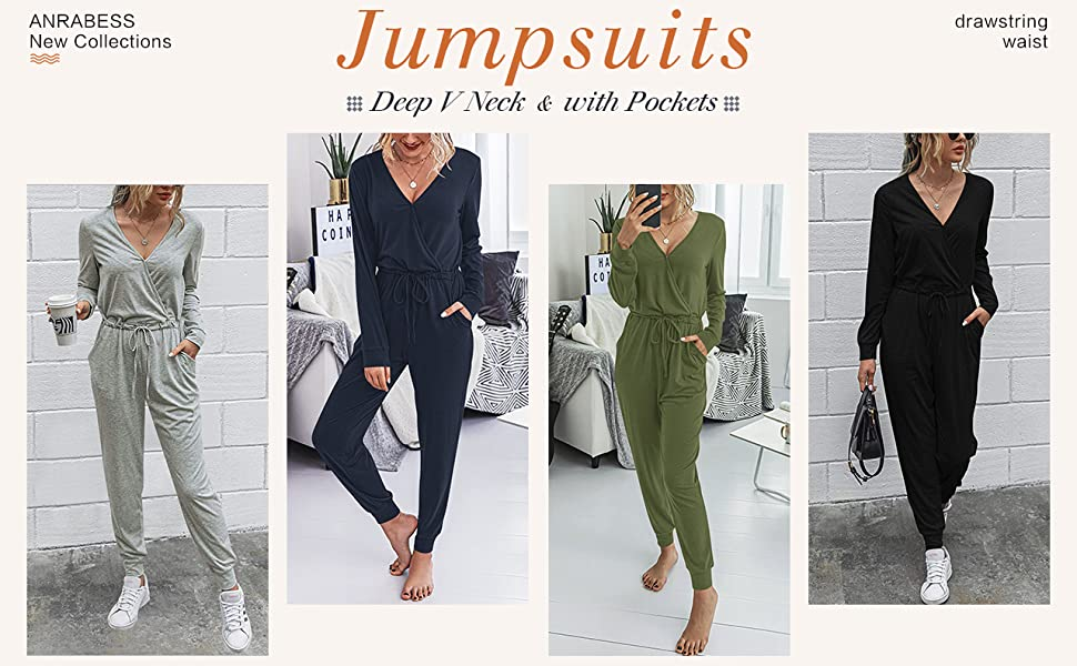 LILLUSORY Summer Jumpsuits for Women Off Shoulder Short Sleeve Casual Loose Soild Drawstring Waist Romper with Pockets