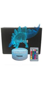 stegosaurus dinosaur night light Christmas birthday gifts dinosaur party supplies boys bedroom decor