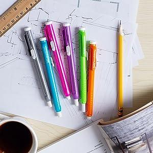 Retractable eraser pen