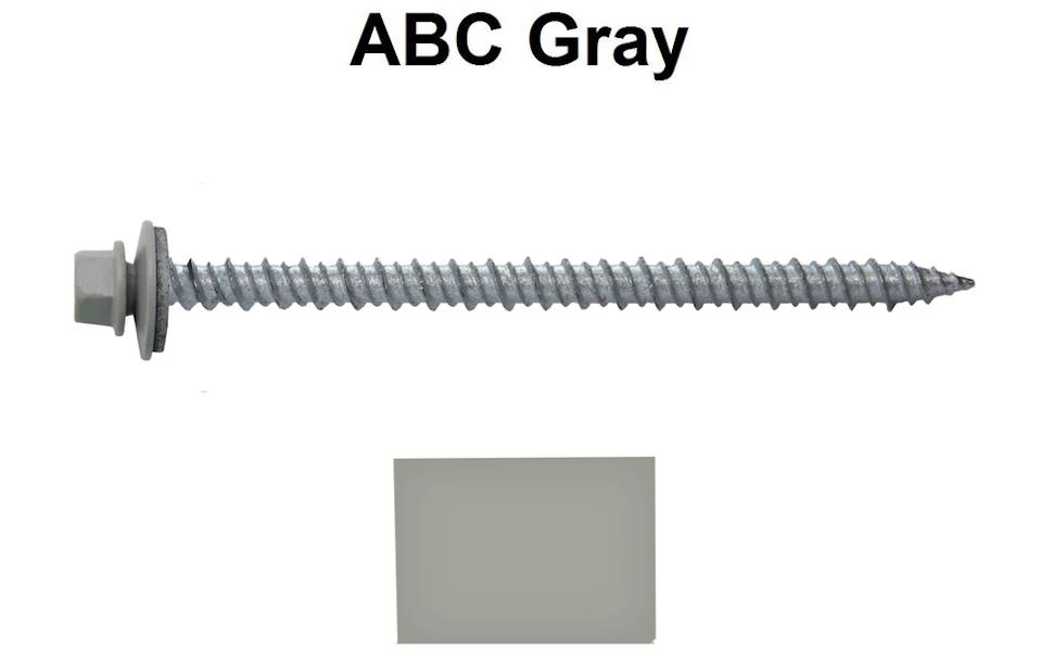 Metal ROOFING SCREWS: sheet metal roofing siding screws 250 Screws x 2-1//2 ZINC Hex Washer Head Sheet Metal Roof Screw Self starting//self tapping metal to wood