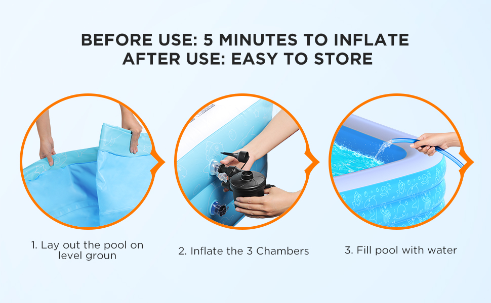 easy to set up swimming pool
