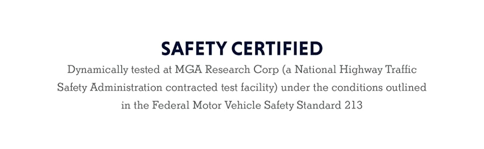 Safety certified Dynamically tested at MGA Research Corp