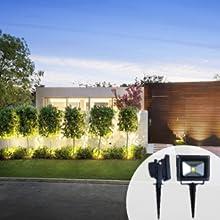 solar outdoor landscape lighting decorativa spotlight garden outside flood-light backyard flag pole
