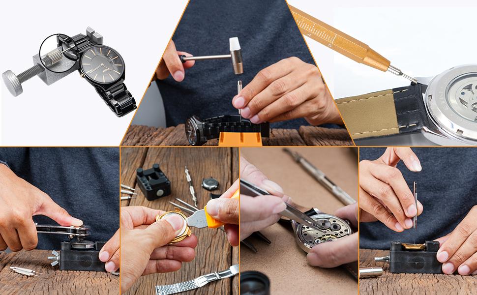 Reparación de Relojes 149 Piezas, Herramientas para Relojero ETEPON: Amazon.es: Relojes