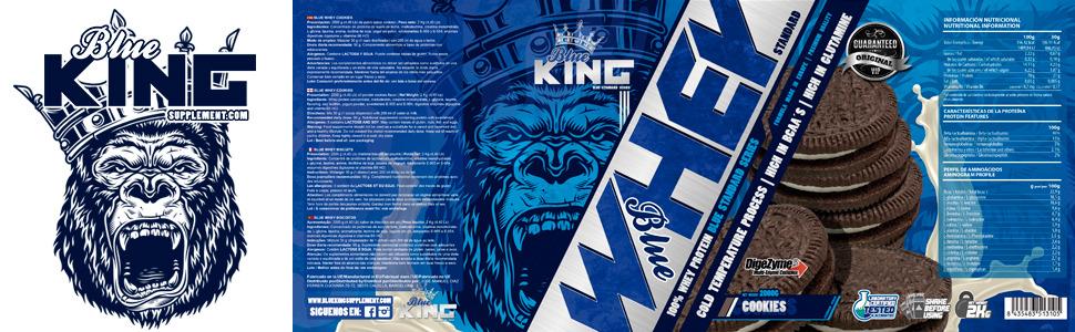 BLUEKING SUPPLEMENT, Whey Protein, Proteína en polvo, Suplementos deportivos, Blue Whey Standard Protein - 2kg (TRIPLE CHOCOLATE)