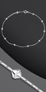 Bracciale in argento con perle di diamanti