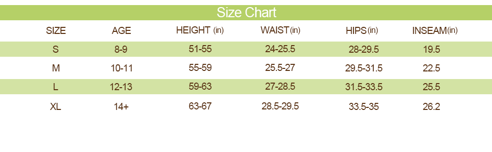 boys compression pants size