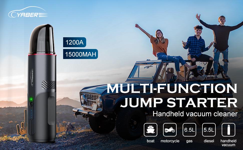 yaber jump starter, jump starter, battery jumper, car starter, car tools, portable power