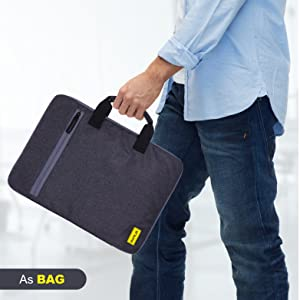 laptop sleeve handle 15.6 inch cover bag