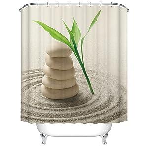 Zen Stone Shower Curtain
