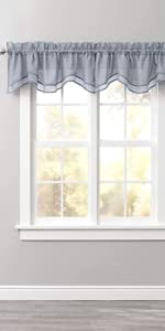 Sheer Voile Layered Valance