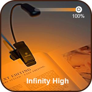 reading light clip,amber book light