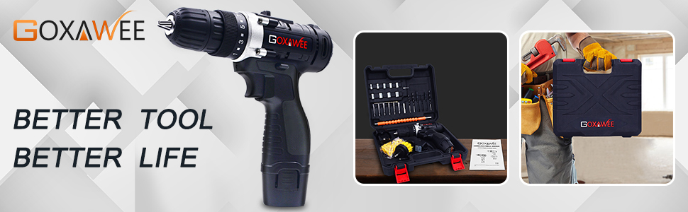 GOXAWEE impact hand drill electronic household reconstruction renovation garden work garage repair