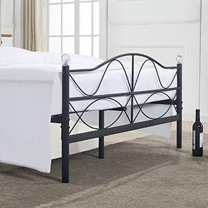 VECELO Marco de cama individual de metal de 91 cm, base de ...